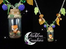 Kawaii fox in a jar polymer clay by Nakihra
