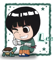 Naruto: Chibi Lee by The-PirateQueen