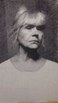 Charcoal Portrait Drawing by TristanBerndtArt