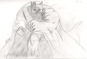 Batman and cape Sketch by SurfTiki