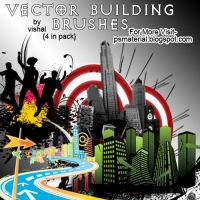 Vector Building brushes by vishalrokez