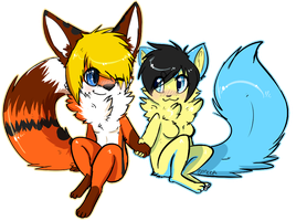 Flatcolor chibi commission deikitten by MystikMeep