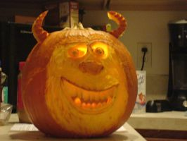 Sully from Monster Inc Carving by felacio-mcbinky