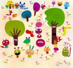 Little monsters and walking trees by nicolas-gouny-art