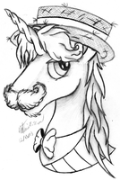Flam Portrait Sketch / Lineart by AncientOwl