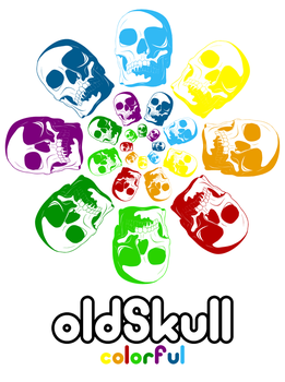 Oldskull colorful by zmot