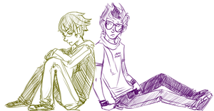 Human! - Eridan and Sollux by Mistakes13