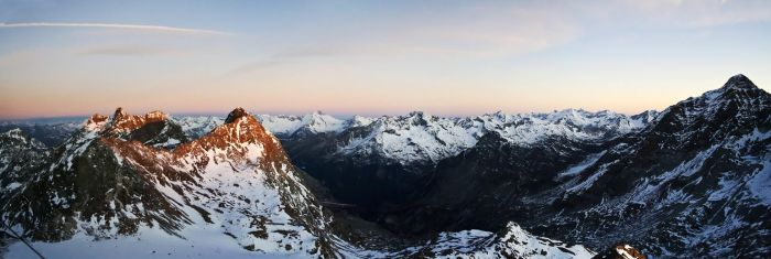 View from Schwarz Wand 3105m by rembrandt83