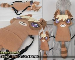 Blonde Tanuki Custom Backpack by lemonbrat
