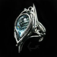 INILYEERH - silver and topaz (ring ) by LUNARIEEN