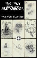 The Tiny Sketchbook Vacation Sketches by Kabiscube