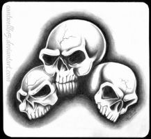 Three Skulls by cantwell615