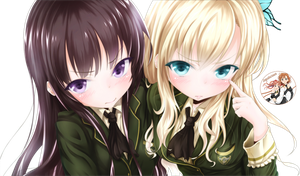 Yozora and Sena Render by xJapalicious
