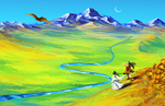 Mongolian Plains - Chouka Kou by nou-e
