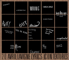 20 Avril Lavigne lyric icon textures by Defreve