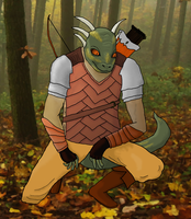 Argonian Hunter by HarlanWolf