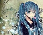 schoolgirl miku wallpaper by Mitche27