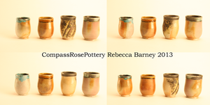 Four Small Soda Cups by CompassRosePottery