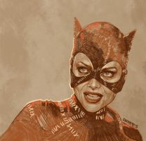 Daily Sketch08: michelle pfeiffer, Batman Returns by artandwine365