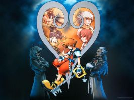 Kingdom hearts Circled lives by grimblackcb