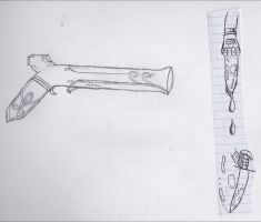 Musket Space gun (with Doodle) by Sean188