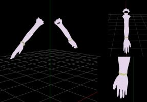 mmd Arches gloves by RoxaDragonsoul