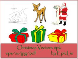 EpicLie_Christmas Vectors 6pk by EpicLie