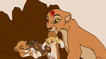 Kiara and her three cubs by digimonfrontier77