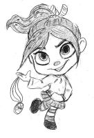 Vanellope Sketch by AriellaMay