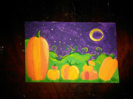 Pumpkin Skyline by NoneMayHaveHer