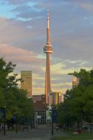 CN Tower at Sunset by vmulligan