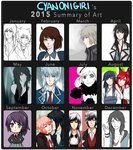 2015 Art Summary by CyanOnigiri