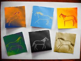Horses - drawing and photoshop by mucsucsula