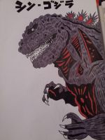 My Shin Godzilla artwork. Color added. by Shin-Ben