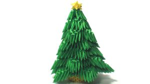 3D origami Christmas tree by Girnelis