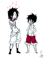 Oh Luffy by Squidbiscuit