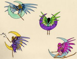 Coloured Fairy Sketches... by Pickled-witch