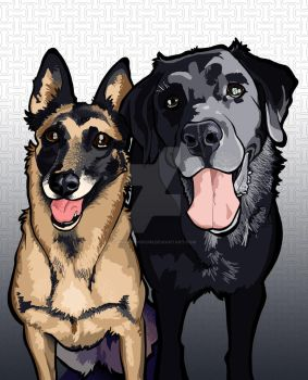 Two Dogs by b1naryg0d