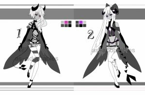 monochromatic demon adoptables closed by AS-Adoptables