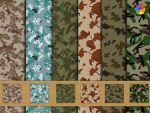 Camouflage high resolution fabric. by plaintextures