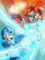 Maverick Hunter Vs Betrayer by HaruEta