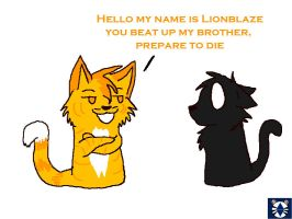 My name is Lionblaze by leaderofmoonclan