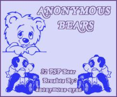 Anonymous Bears for PSP9 by anonymous-nyne