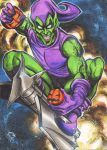 GREEN GOBLIN PERSONAL SKETCH CARD COMMISSION by AHochrein2010