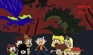 Loud House meets Godzilla by Sci-fiman2xxx