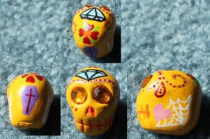 Sugar Skull 13 SOLD by angelacapel
