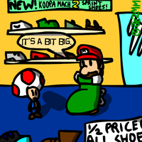 Mario Goes Shoe Shopping by JezMM
