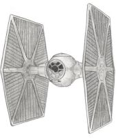 TIE Fighter by MadameFirebird
