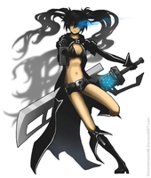 The Black Rock Shooter by Dreamension96