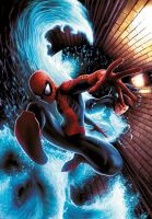 Spidey VS Hydroman by JPRart